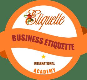 Badge International Business Etiquette